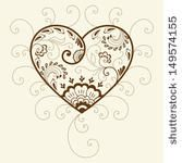 Paisley Heart Tattoo | ... henna floral vector illustration. Design element. Heart silhouette