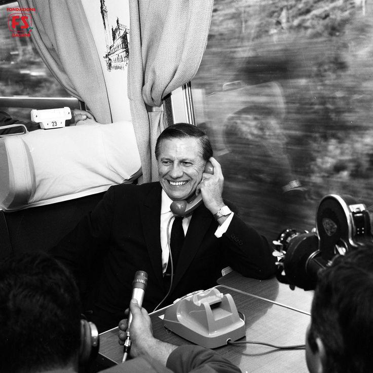 Viaggio del Ministro dei Trasporti USA John Volpe sulla linea Roma-Napoli (1969)