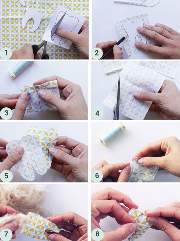 DIY tuto pochette à dents de lait - couture - sewing milk tooth - coussin - tutoriel - enfants - kids