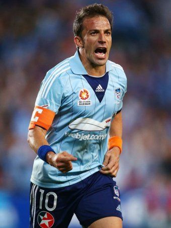 ~ Alessandro Del Piero of Sydney FC celebrating his goal ~
