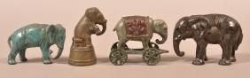 Lot: 4 Antique Cast Iron Elephant Still Banks., Lot Number: 0581, Starting Bid: $50, Auctioneer: Conestoga Auction Company Division of Hess Auction Group, Auction: Antique and Americana Auction, Date: February 4th, 2017 CET