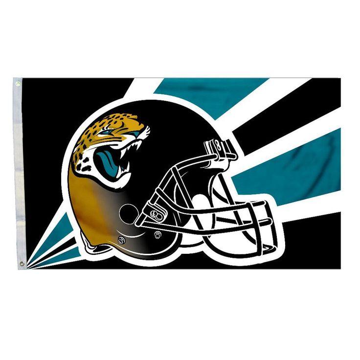 Jacksonville-Jaguars Football Helmet Flag