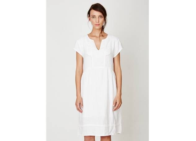 Witte zomerjurk in 100% hennep van Thougth Clothing :: Le Goût des Couleurs producten - Webshop