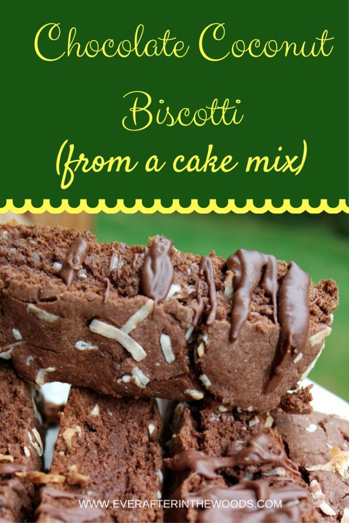 Easy Chocolate Coconut Biscotti