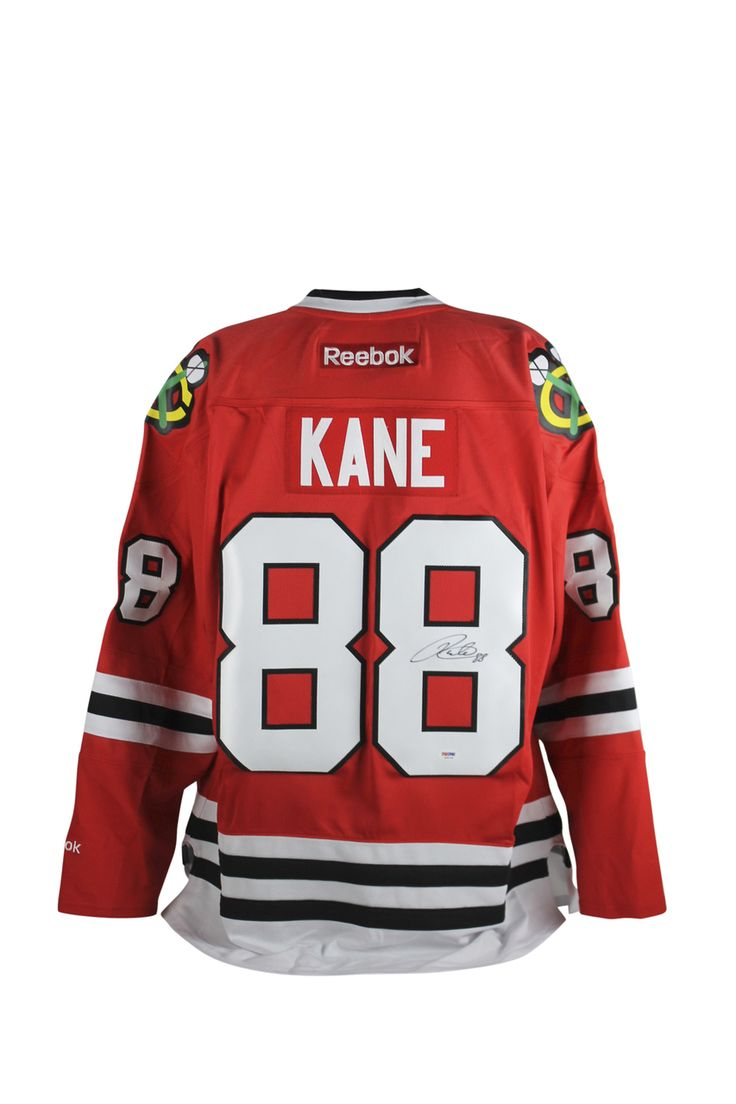 Patrick Kane Chicago Blackhawks Autographed Red Reebok Jersey $472.99  This is a Authentic Signed Red Reebok Jersey that has been Personally Signed & Autographed by Patrick Kane of the Chicago Blackhawks. This item is 100% Authentic to include a Certificate of Authenticity (COA) / hologram by PSA/DNA.This is a stock item. We have several of these available. The one you will receive will be of equal quality to the one pictured. VIP Collectibles offers a 100% Lifetime Guarantee on all…