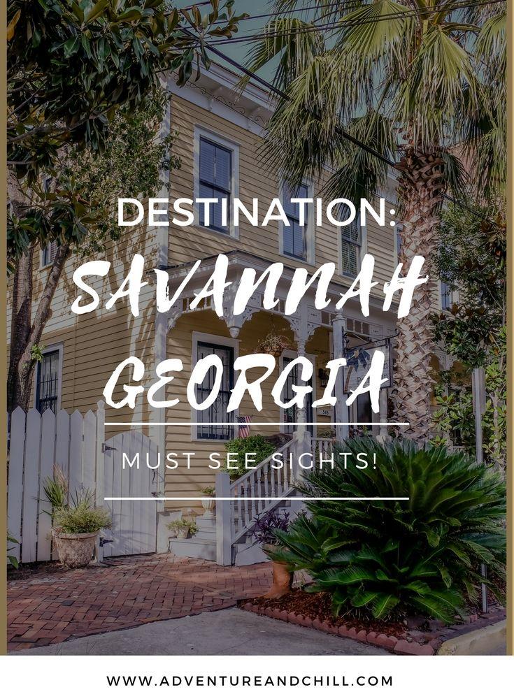 Destination: Savannah, Georgia. Must See Sights for a day or week.  via @www.pinterest.com/threebusybees