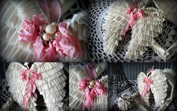 Shabby Gr8 Dane: Dreamy No Sew Angel Wings