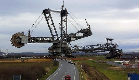 The Bagger 288 is the World's Largest Digging Machine. Large as two football fields and weighting 45K tons, with a pricetag of 100M$.