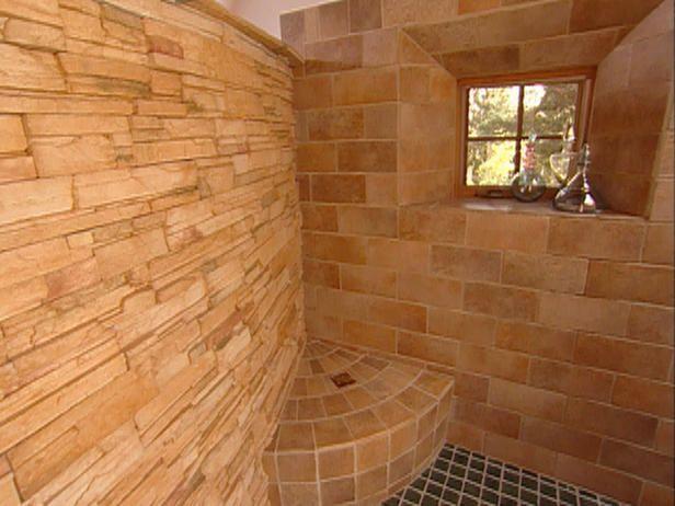 Pueblo-Revival Style Master Bath : Rooms : Home & Garden Television