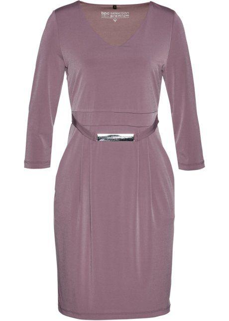 Трикотажное платье класса «Премиум», bpc selection premium, фиолетовый матовый