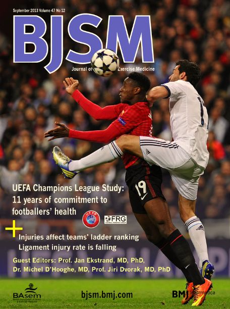 BJSM Volume 47 Issue 12 | August 2013 ~ UEFA Champions League Study: 11 years of commitment to footballers' health.