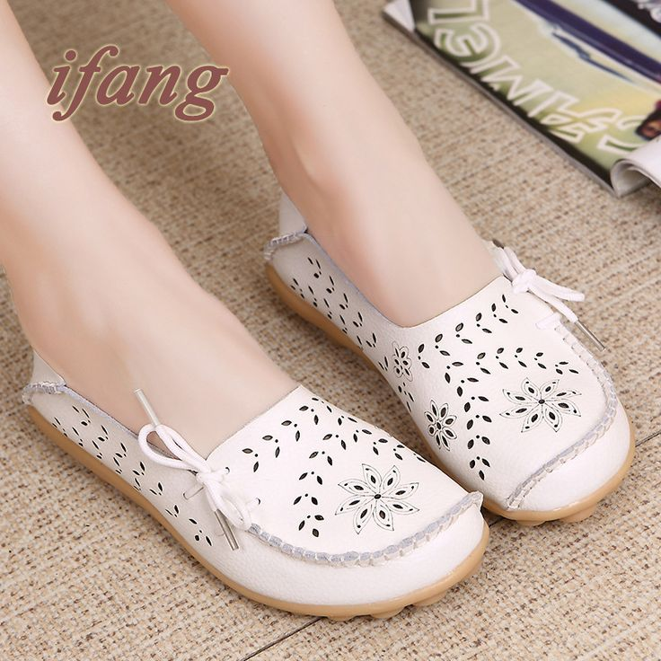 ifang 2016 Spring Summer women flats shoes women genuine leather shoes woman cutout loafers slip on ballet flats boat shoes //Price: $US $12.99 & FREE Shipping //     #clothing