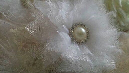 Fabricflower for my flowergirls