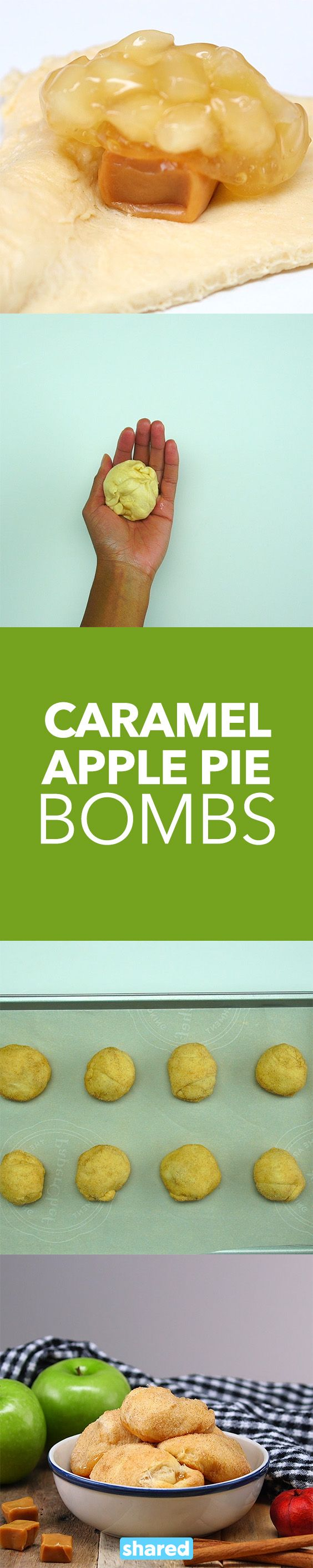 Caramel Apple Pie Bombs