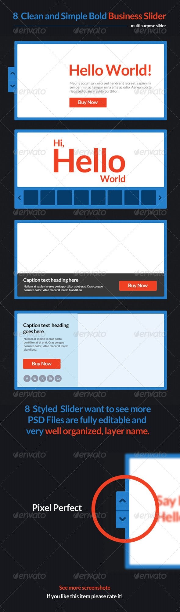8 Clean and Simple Bold Business Slider  - #Sliders & Features #Web Elements Download here:  https://graphicriver.net/item/8-clean-and-simple-bold-business-slider-/4644083?ref=alena994