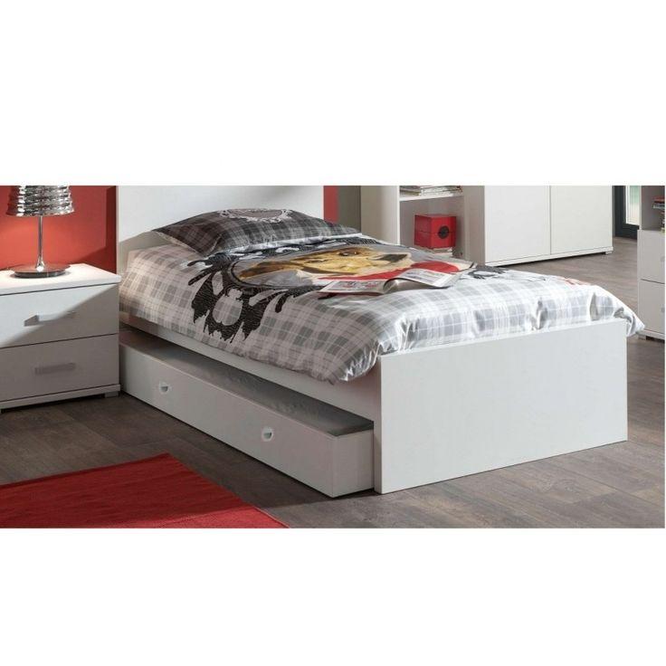 NEPO 90 cm Säng med utdragbar extrasäng under / ALLTING INGÅRLOZ/85d+LOZ/90A+2xL21/90+ORION/90Höjd: 56,5 - 66,5 cm, bredd: 98 cm, längd: 204 cm.