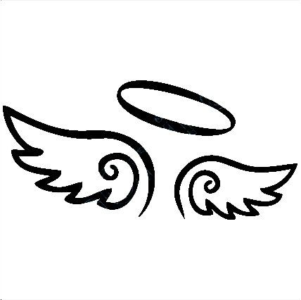 Angel Wings Decal with Halo angels
