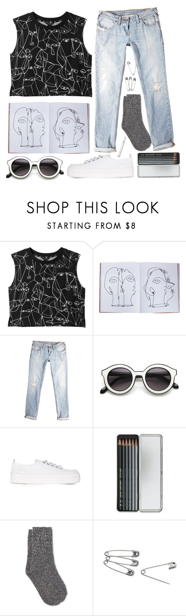 """""""Pablo"""" by sastronomical ❤ liked on Polyvore featuring Monki, Assouline Publishing, Jack Wills, INDIE HAIR, MANGO, Caran d'Ache, White Stuff, white, black and jeans"""