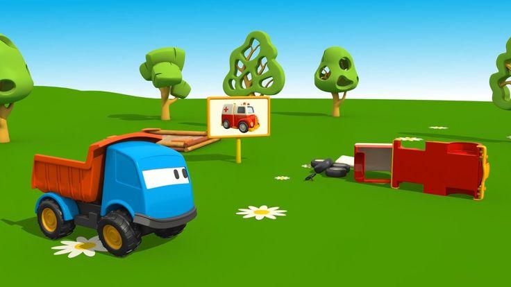 Leo il camion curioso e l'ambulanza - Cartoni animati per bambini