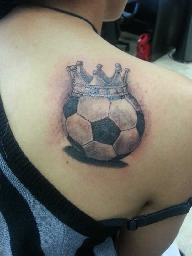 Queen soccer tattoo by Rudy back tattoos