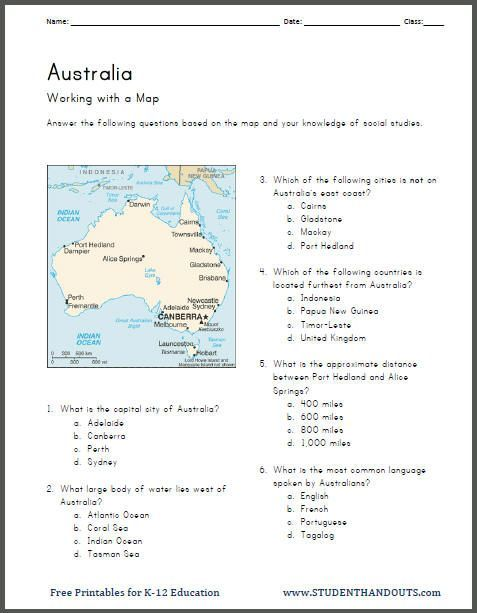 australia map work printable worksheet geography fun activities map worksheets geography. Black Bedroom Furniture Sets. Home Design Ideas