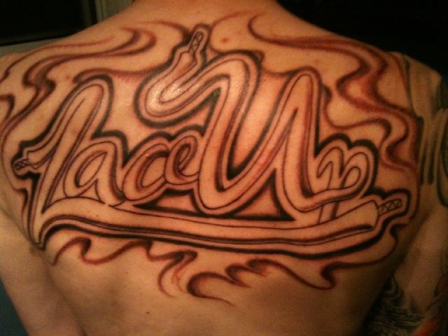 Lace Up tattoo (Mac Miller) (MGK)