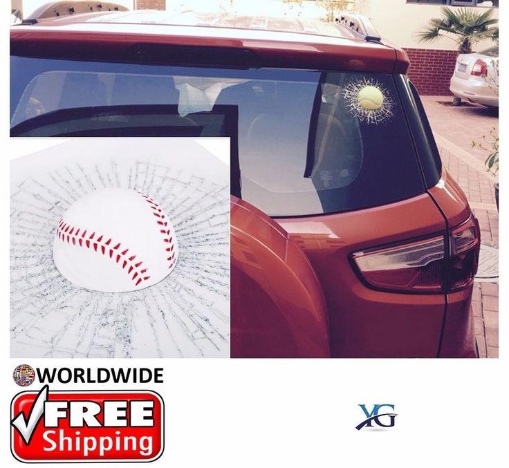 3D Styling Car Stickers Funny, Ball Hits Car Body Window Self Adhesive  Baseball | eBay Motors, Parts & Accessories, Car & Truck Parts | eBay!