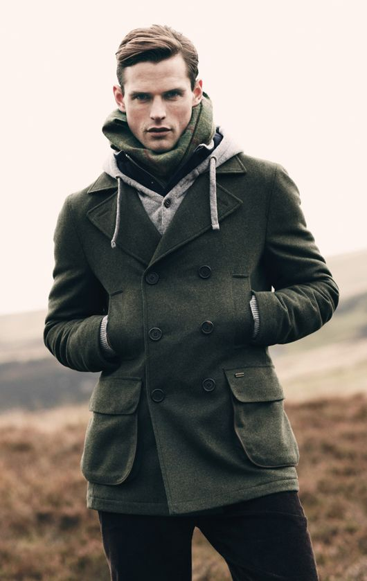If I never see another polar fleece jacket, it will be too soon. Give me a man in wool, please. Classic, lasting and naturally warm/weather-repellant. By Barbour