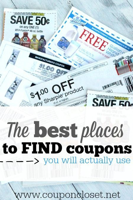 Top 6 Best Places to Find Coupons! Learn how easy it is to find coupons that you will use.