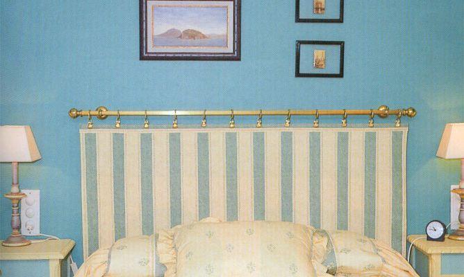 Hacer un cabecero con una barra de cortina - Bricomanía