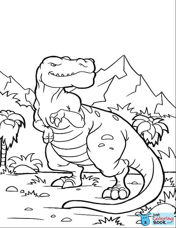 Pin Di Dinosaur Coloring Page