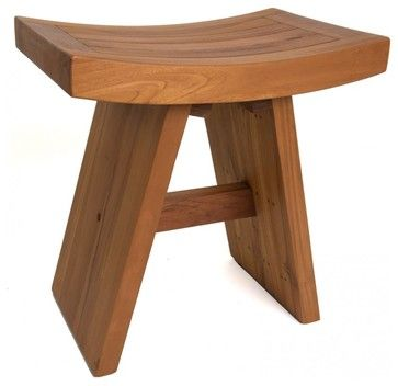 """18"""" Traditional Asia Teak Shower Bench - From the Asia Collection contemporary-shower-benches-and-seats"""