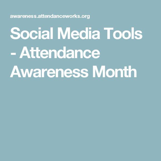 Social Media Tools - Attendance Awareness Month