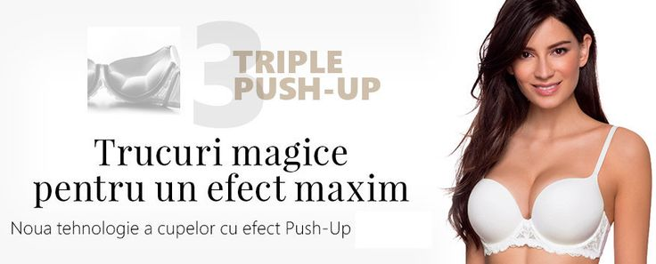 Sutien Fantastic Triple Push-Up