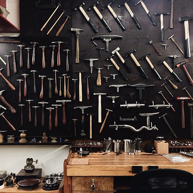 Michael Chan. I love the arrangement of the hammers on the wall.