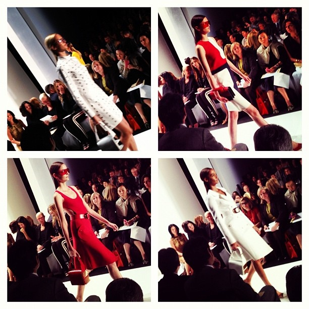 Reds and whites @michaelkors #nyfw