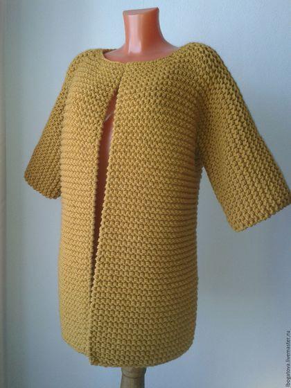Купить или заказать Кардиган кимоно крупной вязки 'Весеннее пробуждение' в интернет-магазине на Ярмарке Мастеров. Кардиган кимоно крупной вязки 'Весеннее пробуждение'.Размер 48 (ОБ =104 см), длина 80 см.Возможно носить с ремнем, на брошке сверху, также в распахнутом виде . Модная крупная платочная вязка . Возможно выполнить на заказ по вашим меркам в другом цвете.Цена указана на размер 48, длину 80 см.Каждый последующий размер +500 руб.Актуальная карта цветов высылается н...
