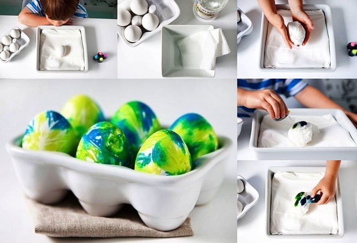 The original method for coloring eggs