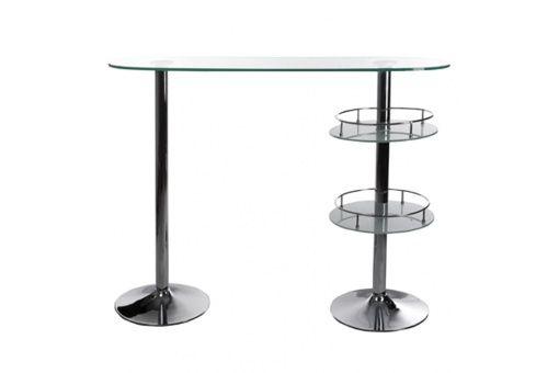 Table de Bar Declikdeco promo table, achat Table-bar transparente en verre Jimmy pas cher prix promo Declikdeco 348,00 € TTC
