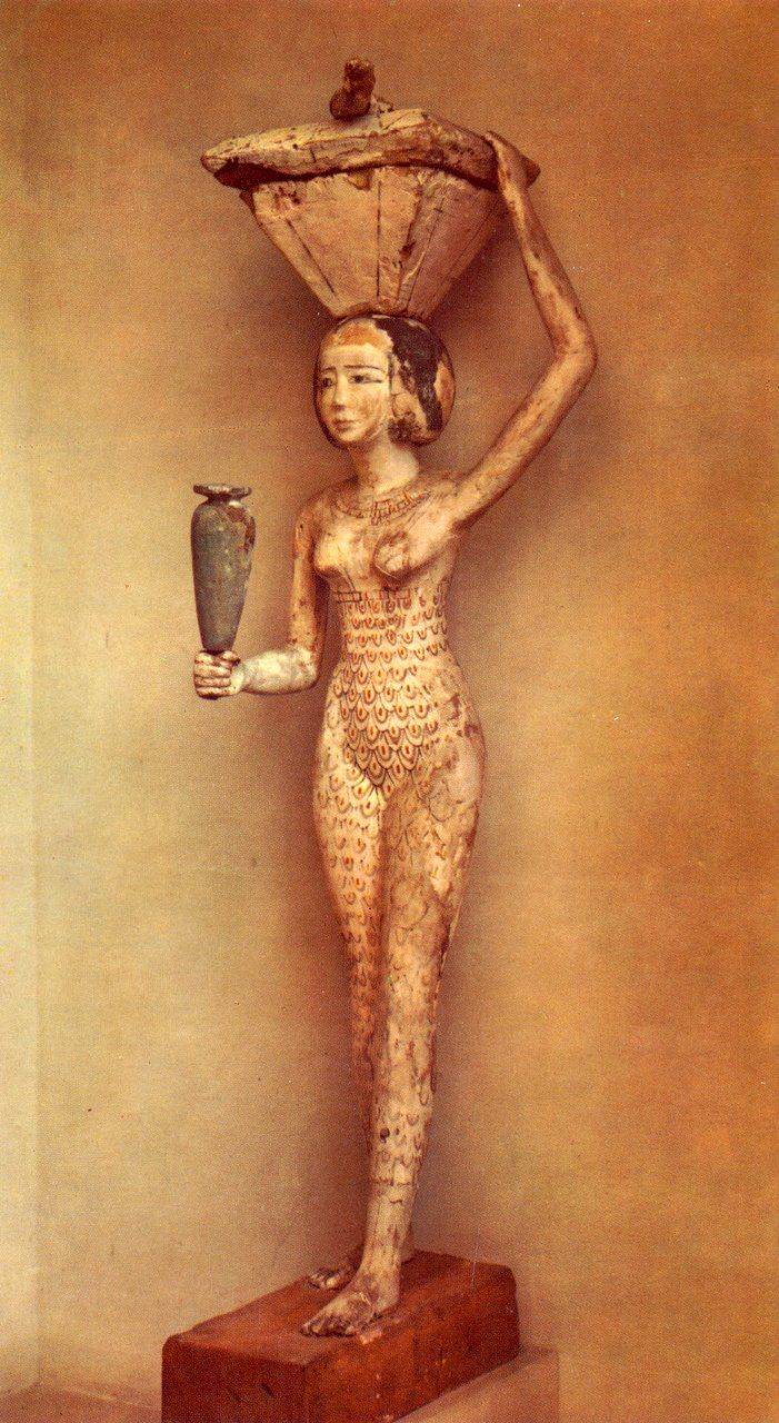 Arte Egizia  -  Medio Impero,  XI Dinastia  -  La Portatrice del Mastello