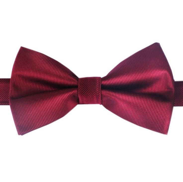 Dark Maroon Bow Tie | Australian Designer Bow Ties | Handmade Bowtie | www.OTAA.com.au | $20