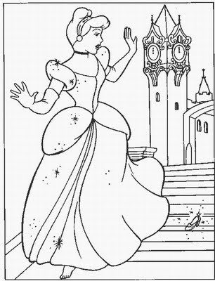 Cinderella Coloring Pages | Learn To Coloring