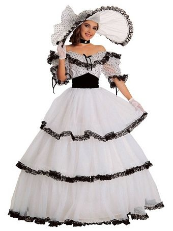 Womens Black And White Southern Belle | Wholesale Classic Halloween Costumes for Women