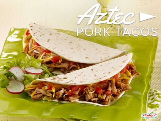 Bring some south of the border flavor to the dinner table tonight. Put the ingredients in the slow cooker, and when you get home just fill your tacos with the pork mixture and any other toppings you want! #easymeal