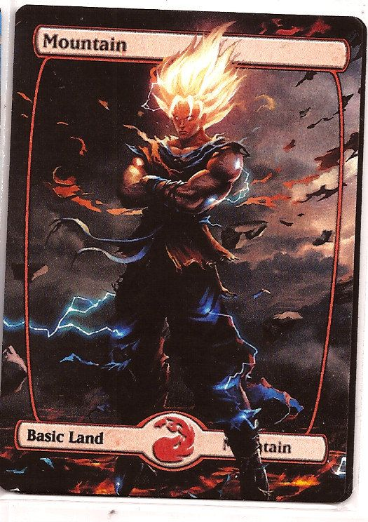 Mtg altered art Mountain Magic the Gathering Proxy by Tokenland