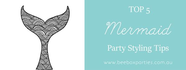 Mermaid Party Tips and Ideas. Bee Box Parties has you covered at every step of the party process; our handy Best 5 Blogs are a welcome source of party inspiration and planning advice. https://beeboxparties.com.au/blogs/news
