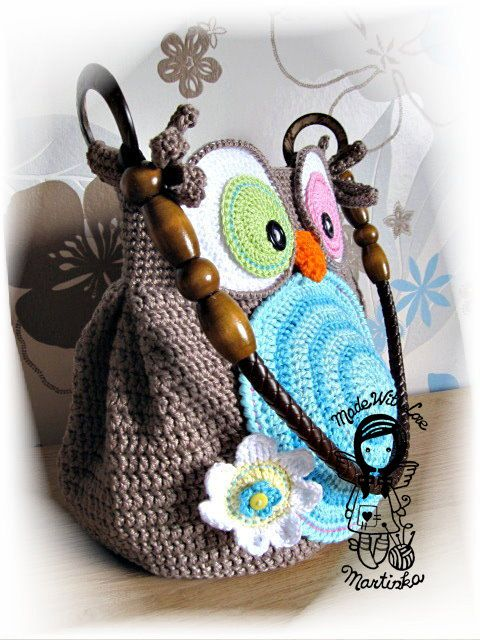 Crochet PATTERN 28 Bag Jolly Owl di NellagoldsCrocheting su Etsy