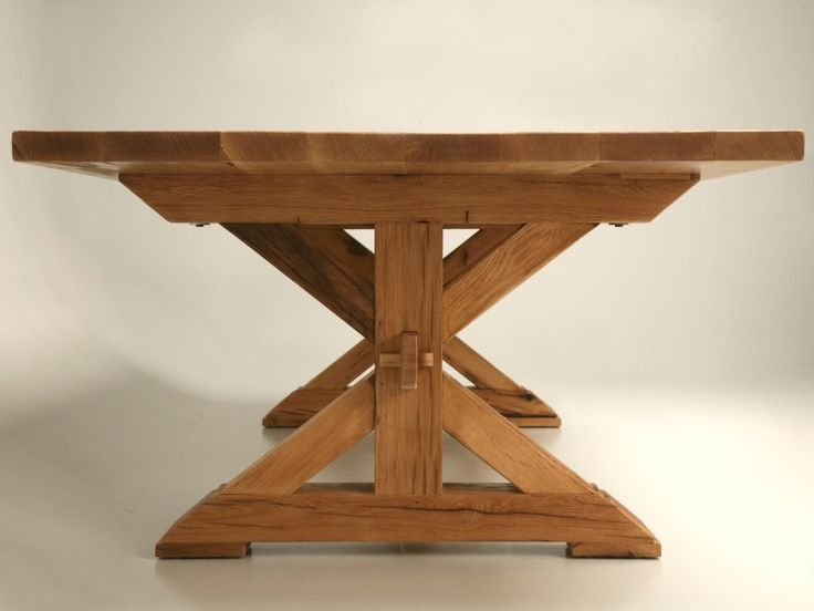 Custom Made French Solid Oak Farm Table for Sale | Old Plank