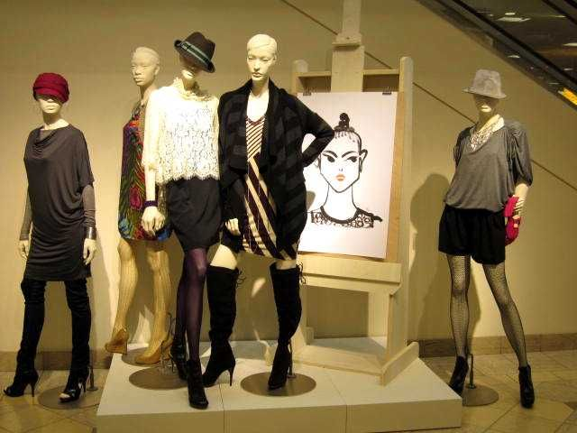 """Nordstrom, Interior mannequins, """"Where Art Meets Fashion"""" fall trend outpost."""