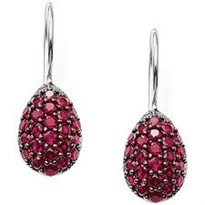 Pav Cz Red Hook Earring Drop-H1794-012-10